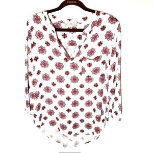 2/$15 Pink Republic top floral size large
